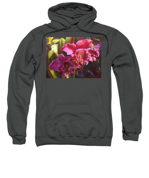 Orchids In Magenta Sweatshirt