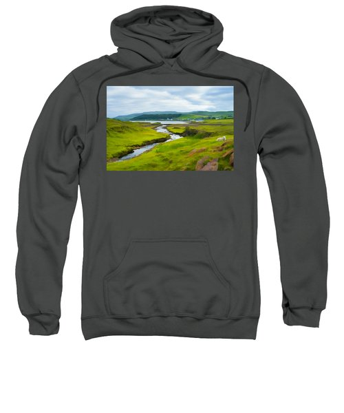 Osdale River Leading Into Loch Dunvegan In Scotland Sweatshirt