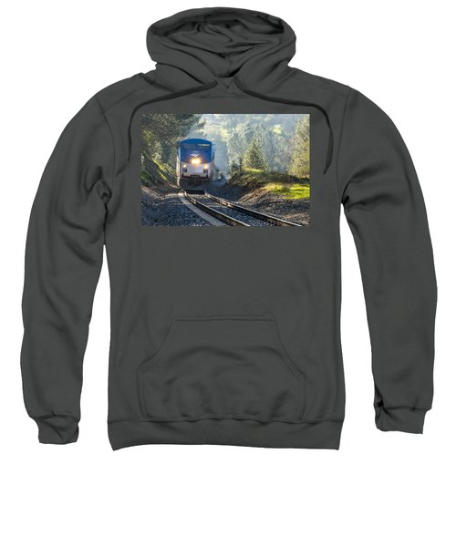 Sweatshirt featuring the photograph Out Of The Mist by Jim Thompson