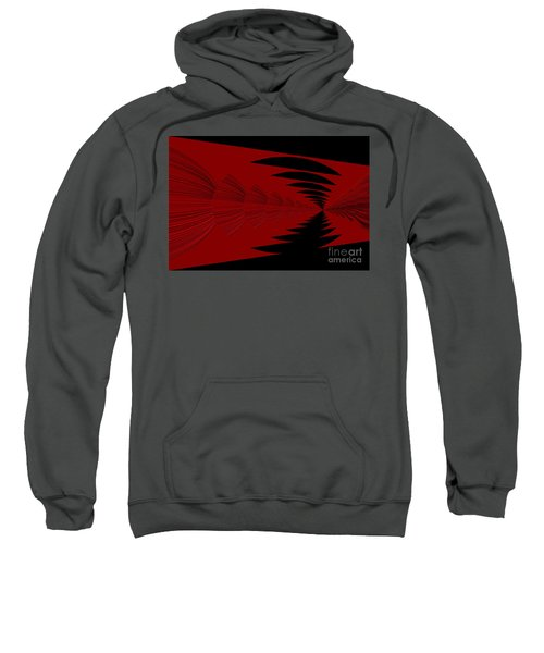 Red And Black Design Sweatshirt