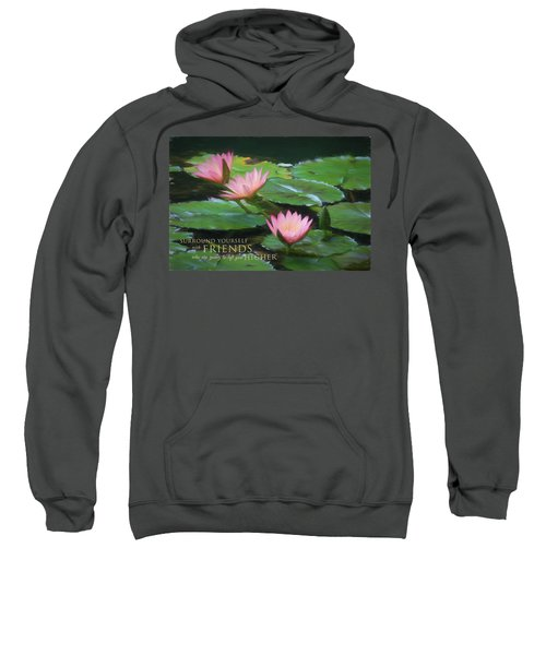 Painted Lilies With Message Sweatshirt