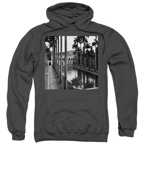 Palm Trees Bordering A Pool Sweatshirt