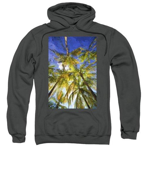 Palm Trees Of Aruba Sweatshirt