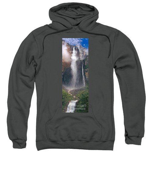 Panorama Angel Falls In Canaima National Park Venezuela Sweatshirt