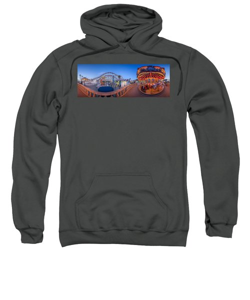 Panorama Giant Dipper Goes 360 Round And Round Sweatshirt