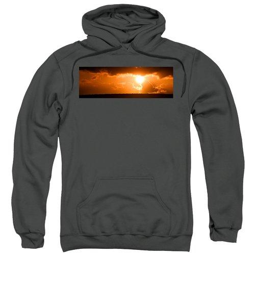 Panoramic Photo Of Sunset At Monkey Mia  Sweatshirt