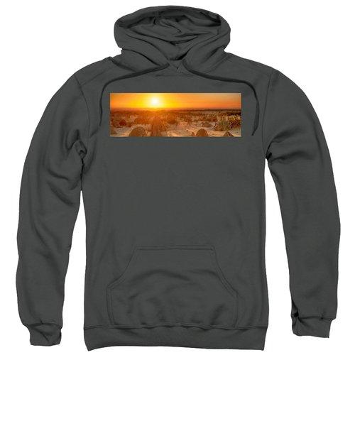 Panoramic Photo Of Sunset At The Pinnacles Sweatshirt