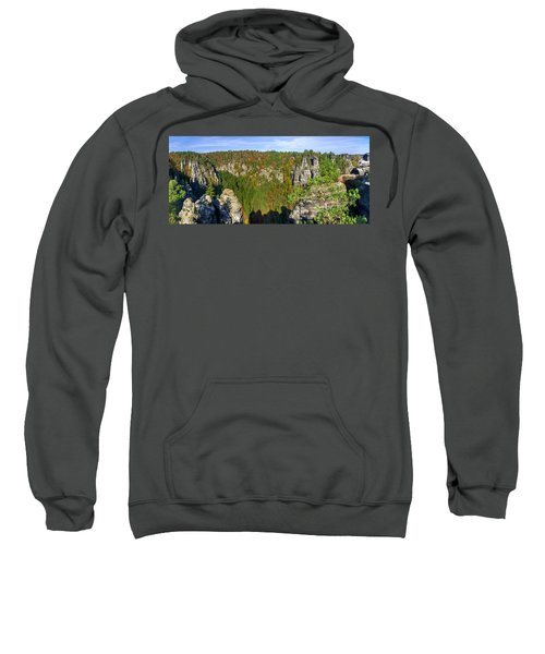 Panoramic View Of The Elbe Sandstone Mountains Sweatshirt