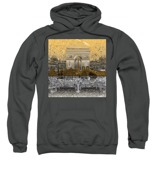 Paris Skyline Landmarks 5 Sweatshirt