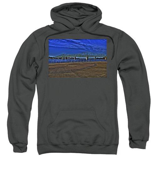 Sweatshirt featuring the photograph Parkersburg Point Park by Jonny D