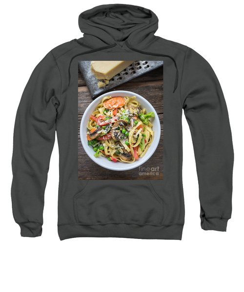 Pasta Primavera Dish Sweatshirt by Edward Fielding