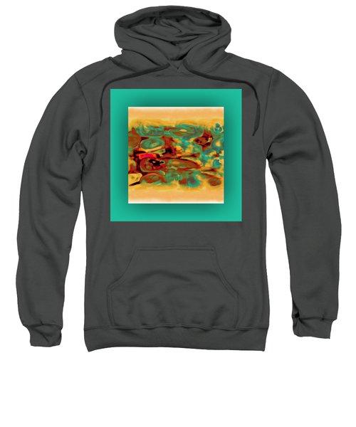 Sweatshirt featuring the digital art Pastel 5 by Mihaela Stancu
