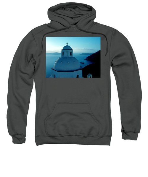 Peacefull Santorini Greek Island  Sweatshirt