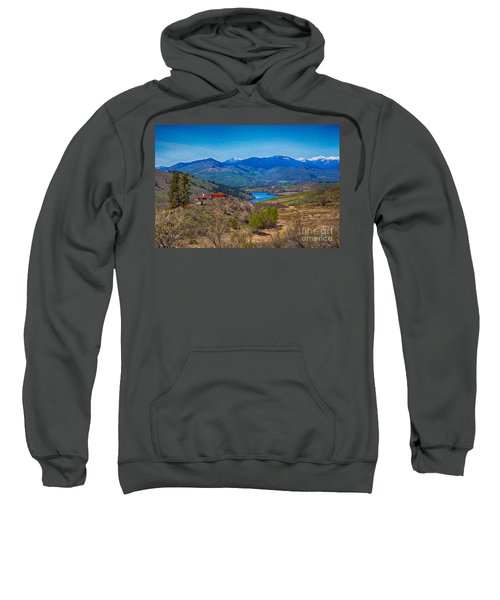 Perrygin Lake In The Methow Valley Landscape Art Sweatshirt