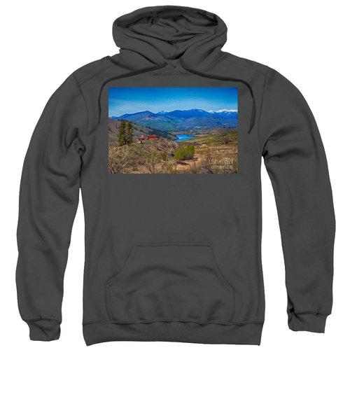 Perrygin Lake In The Methow Valley Landscape Art Sweatshirt