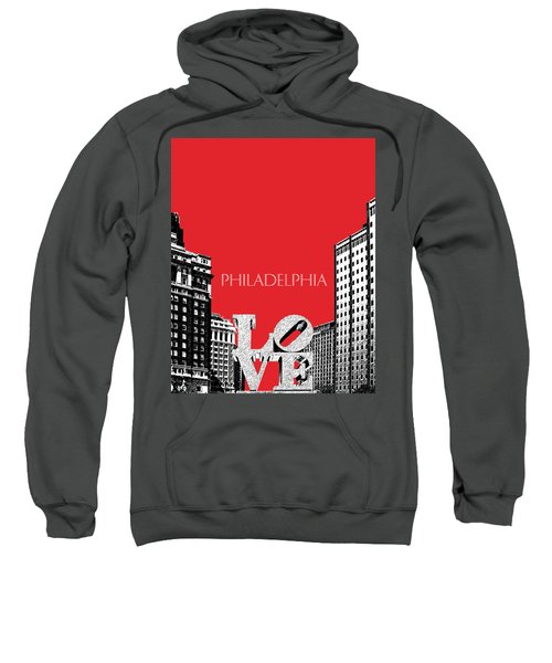 Philadelphia Skyline Love Park - Red Sweatshirt