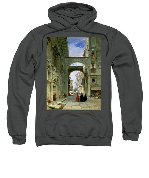 Piazza Dei Signori In Verona Sweatshirt
