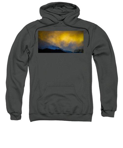 Pike's Peak Snow At Sunset Sweatshirt