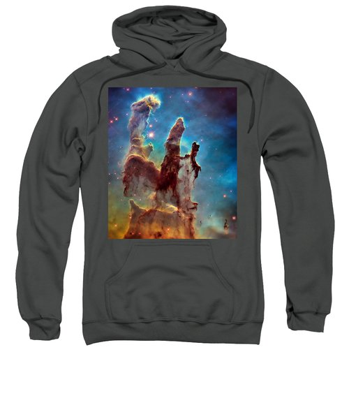 Pillars Of Creation In High Definition Cropped Sweatshirt