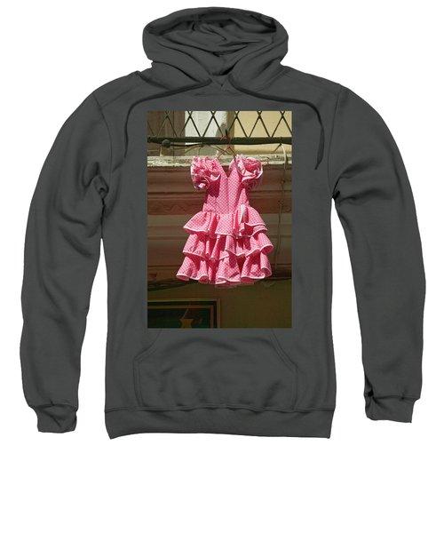 Pink Flamenco Dress For Little Girl Sweatshirt