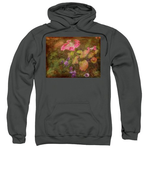 Pink Hydrangea And Purple Pansies Sweatshirt