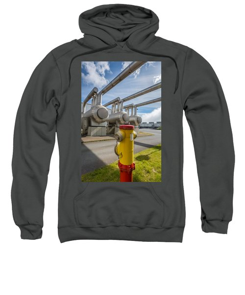Pipes At Nesjavellir Geothermal Power Sweatshirt