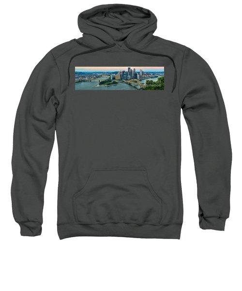 Pittsburgh Panorama At Dusk Sweatshirt