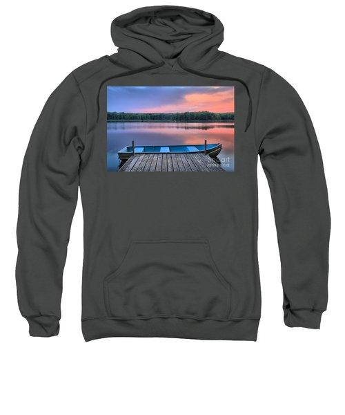 Poconos Lake Whitney Sunset Rowboat Sweatshirt