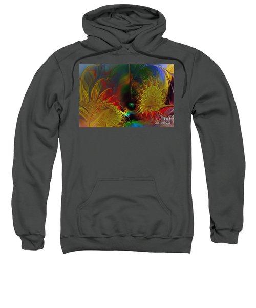Point Of No Return-abstract Fractal Art Sweatshirt