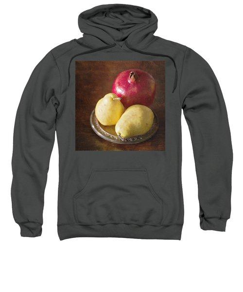 Pomegranate And Yellow Pear Still Life Sweatshirt