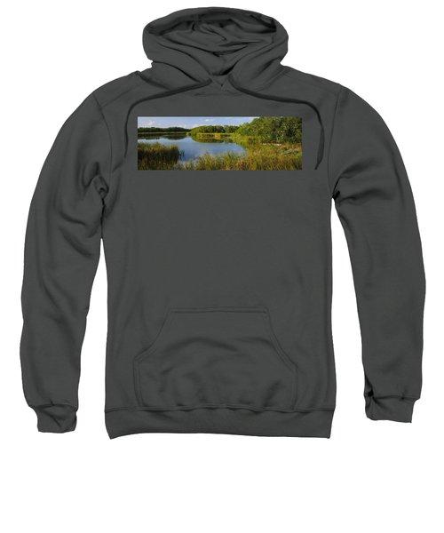 Pond In A Forest, Eco Pond, Flamingo Sweatshirt