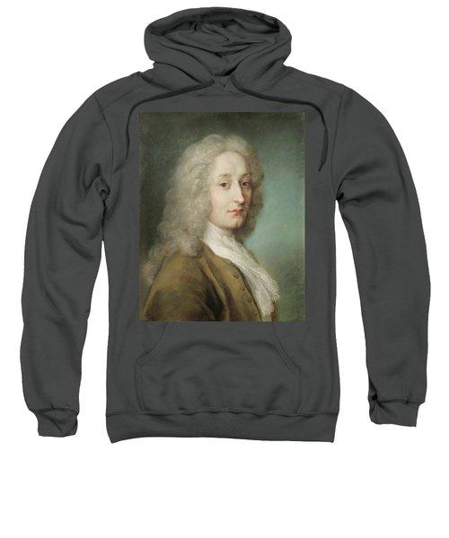Portrait Of Antoine Watteau 1684-1721 Pastel On Paper Sweatshirt