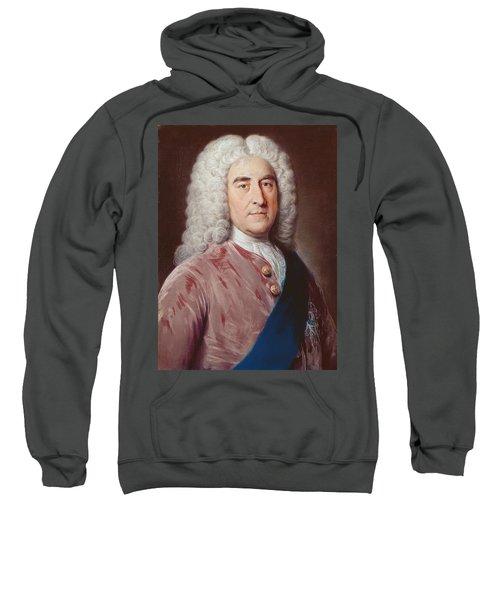 Portrait Of Thomas Pelham Holles 1693-1768 Duke Of Newcastle Under Lyme, Pastel On Paper Sweatshirt