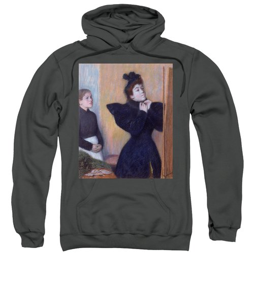 Preparing To To Out, 1894 Pastel Sweatshirt