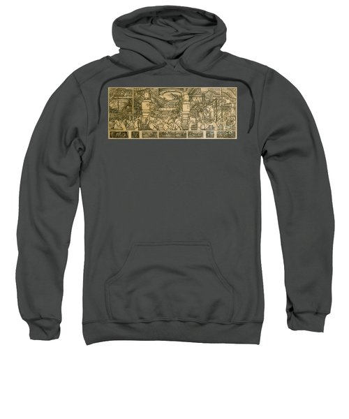 Presentation Drawing Of The Automotive Panel For The North Wall Of The Detroit Industry Mural Sweatshirt