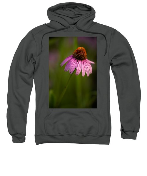 Purple Cone Flower Portrait Sweatshirt