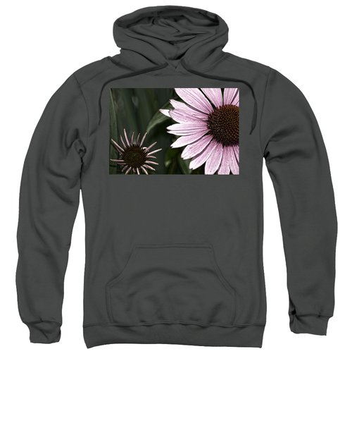 Purple Coneflower Imperfection Sweatshirt
