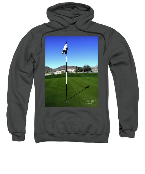 Putting Green And Flag On Golf Course Sweatshirt