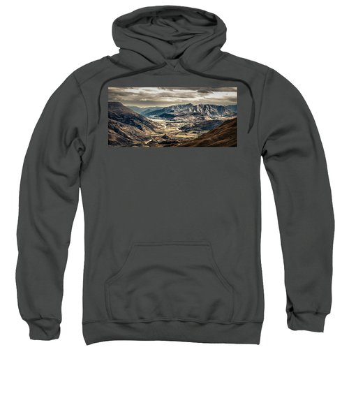 Sweatshirt featuring the photograph Queenstown View by Chris Cousins
