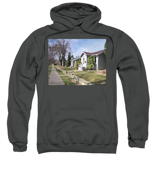 Quiet Street Waiting For Spring Sweatshirt by Donald S Hall