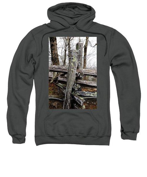 Rail Fence With Ice Sweatshirt