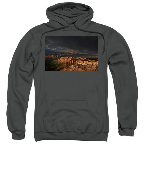 Rainbow And Thunderstorm Over The Paunsaugunt Plateau  Sweatshirt