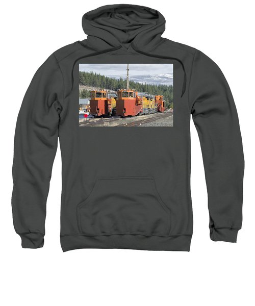 Sweatshirt featuring the photograph Ready For More Snow At Donner Pass by Jim Thompson
