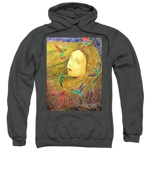 Sweatshirt featuring the painting Recordando A Puerto Rico by Oscar Ortiz