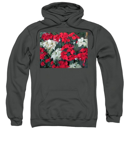 Red And White Poinsettias Sweatshirt