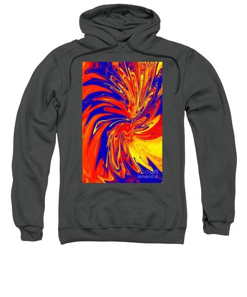 Red Blue Orange Red Yellow Swirl Sweatshirt