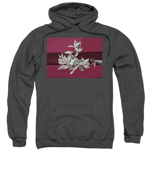Sweatshirt featuring the photograph Red Fence by Donald S Hall