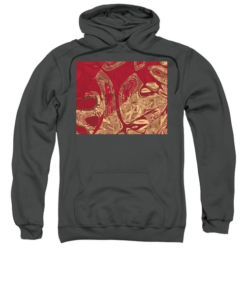 Red Geranium Abstract Sweatshirt