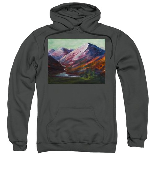 Red Mountain Surreal Mountain Lanscape Sweatshirt