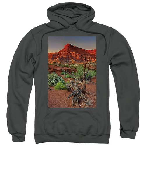 Red Rock Butte And Juniper Snag Paria Canyon Utah Sweatshirt